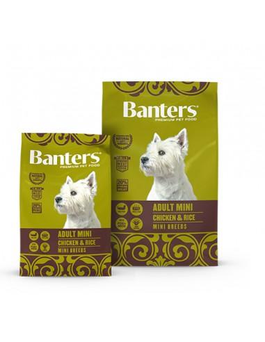 Banters-Adulto-Mini Pollo-Arroz-alimentación-pienso-perros