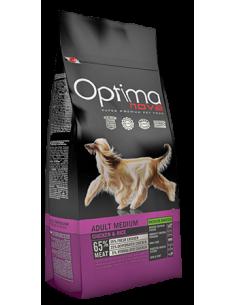 Optima-Nova-Adult-Medium-Grain-Free pollo-arroz-perros-alimentación-pienso