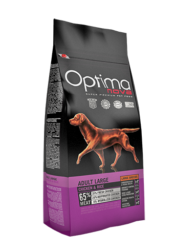 Optima-Nova-Adult-Large-Grain-Free-pollo-arroz-perros-alimentación-pienso
