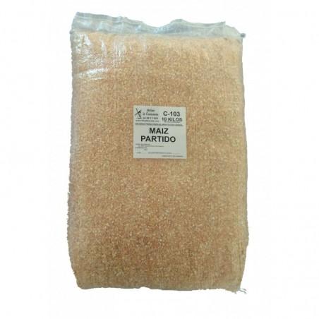 Maiz-Partido-cereales-pollos-de granja-corral