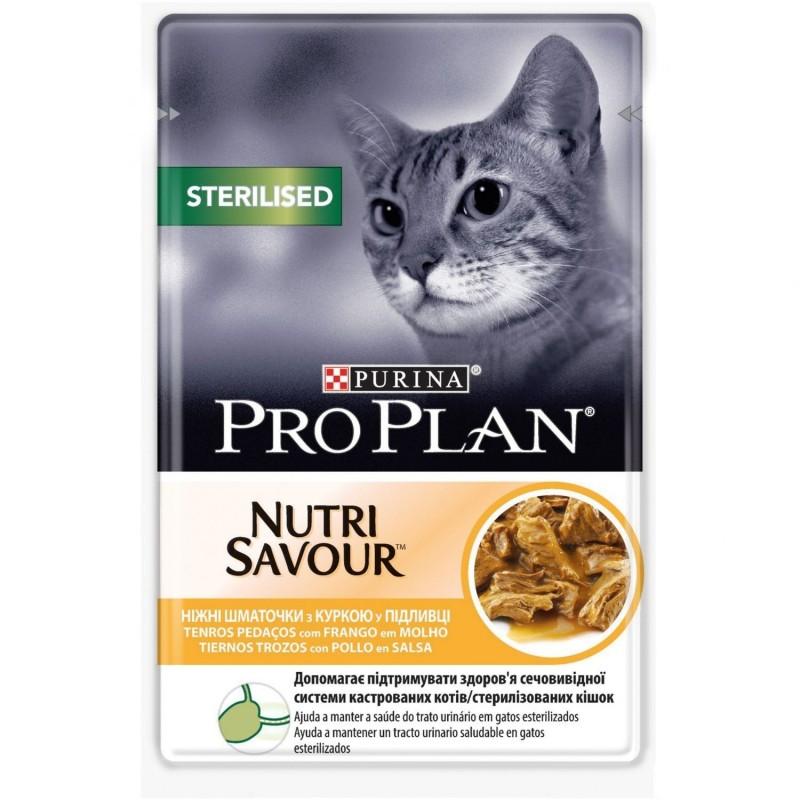 Purina Pro Plan Gato Sterilised Pollo en Salsa